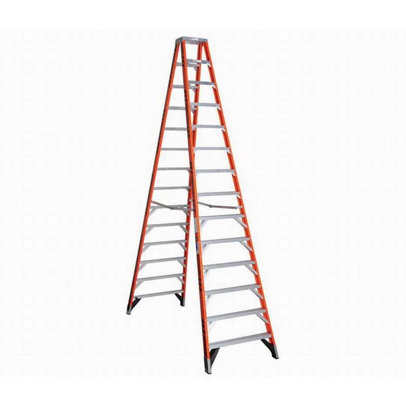 """""Werner T7414 T7400 Series Multi-Use Type IA Twin Step Ladder 14 ft, 300 lb, Fiberglass,"""""" 630315"
