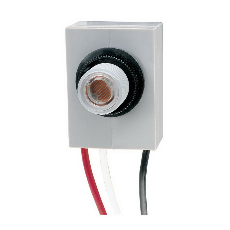 Intermatic K4021C K4000 Series Fixed Position Mount Photocontrol; 120 Volt AC, Cadmium Sulfide Sensor