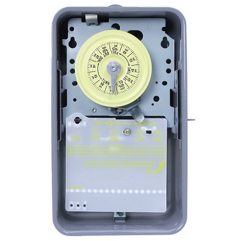 Intermatic T101r Grasslin Timer Switch  24 Hour  Gray