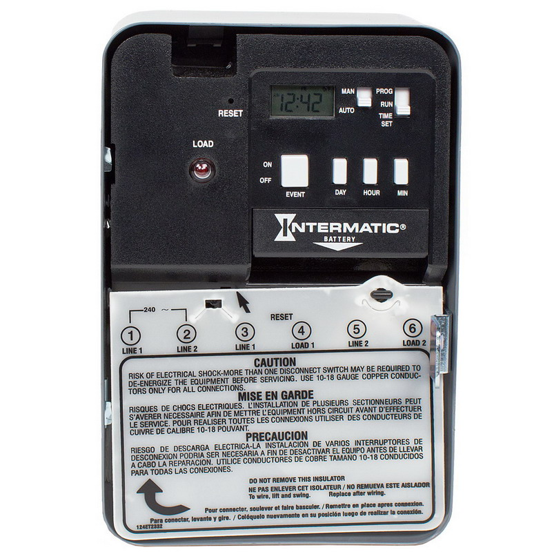 Intermatic EH10 Timer Switch; 1 min, Gray, SPST, 120 Volt