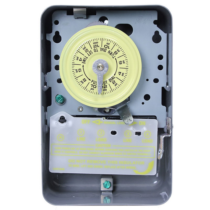 Intermatic T103 Heavy-Duty Timer Switch; 1 Hour, Gray, SPST, 125 Volt