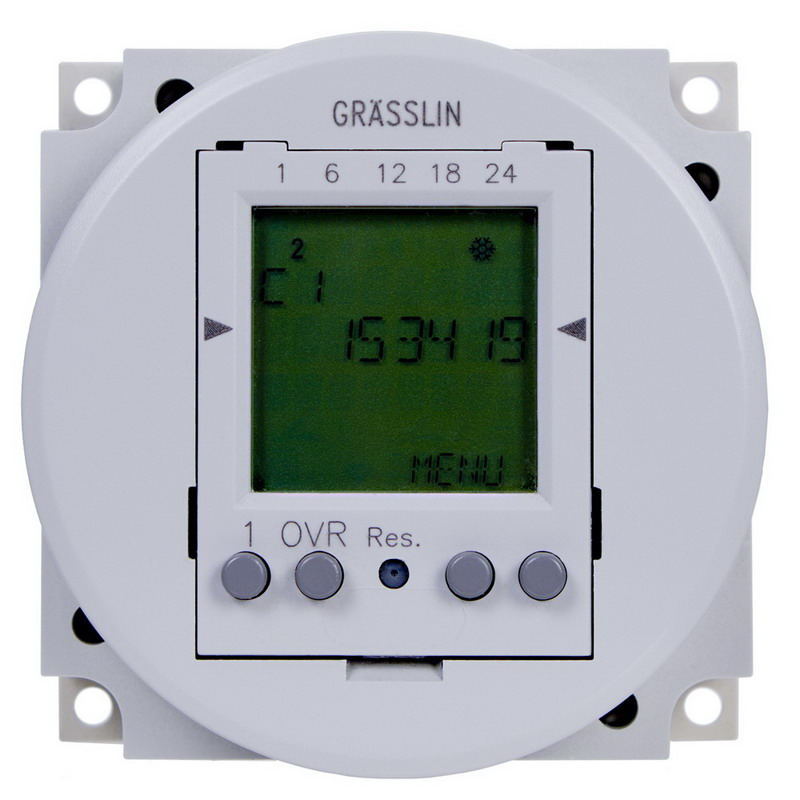 Intermatic FM1D50-24U 24-Hour/7-Day Electronic Timer Switch; 1 min, Gray, SPDT, 24 Volt AC/DC