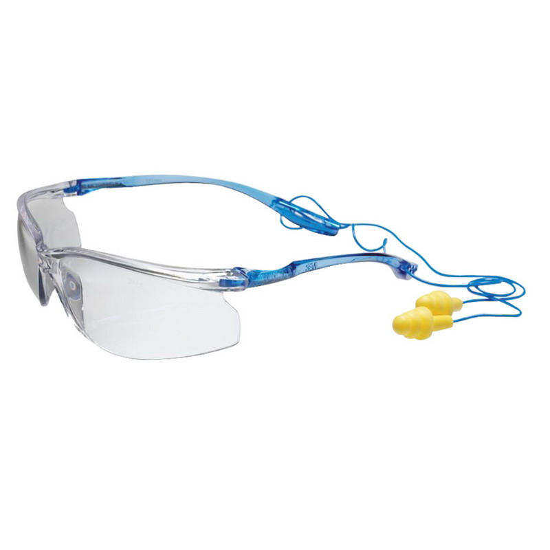 3M 11796-00000-20 Virtua™ Sport Anti-Fog Protective Safety Eyewear; Standard, Blue Temple Frame, Frameless With Clear Lens, Case of 20