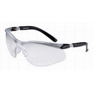 3M 11458 BX Dual Reader Protective Eyewear; Silver and Black Half Frame, Anti-Fog