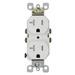 Leviton T5820-I Tamper-Resistant Duplex Receptacle; 20 Amp, 125 Volt, Ivory, Self-Grounding