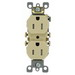 Leviton T5320-SI Residential Grade Tamper-Resistant Duplex Receptacle; 15 Amp, 125 Volt, Ivory, Self Grounding