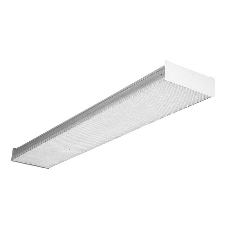 Hubbell Lighting / Columbia AWN8-232-4EU 4-Light Surface Mount AWN Model Fluorescent Square-Basket Wraparound Fixture; 32 Watt, White, Lamp Not Included