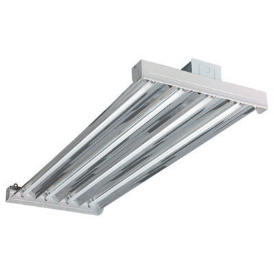 Hubbell Lighting / Columbia LHV4-454-GWU-4EPU VersaBay™ 4-Light Suspension Mount LHV Model Uplight Fluorescent High Bay Fixture; 54 Watt, White, Lamp Not Included