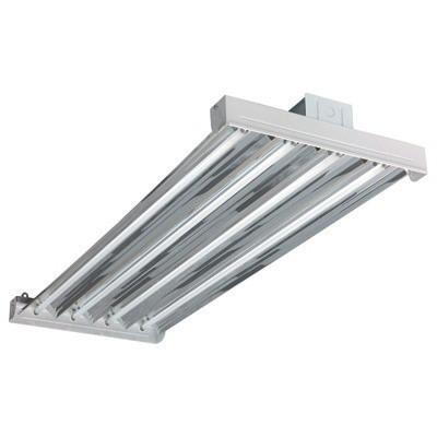 Hubbell Lighting / Columbia LHV4-454-M4RU-4EPU VersaBay™ 4-Light Suspension Mount LHV Model Uplight Fluorescent High Bay Fixture; 54 Watt, White, Lamp Not Included