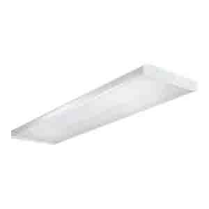 Cooper Lighting WN-432A-UNV-EB81-U Metalux® 4-Light Surface Mount WN Series Fluorescent Wraparound Fixture; 32 Watt, White, Lamp Not Included