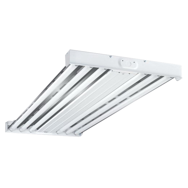 Cooper 6 Lamp High Bay Cooper Lighting HBI632-UPL 6-Light Suspension Mount HBI Series Fluorescent High Bay Fixture; 32 Watt, White, Lamp Not Included