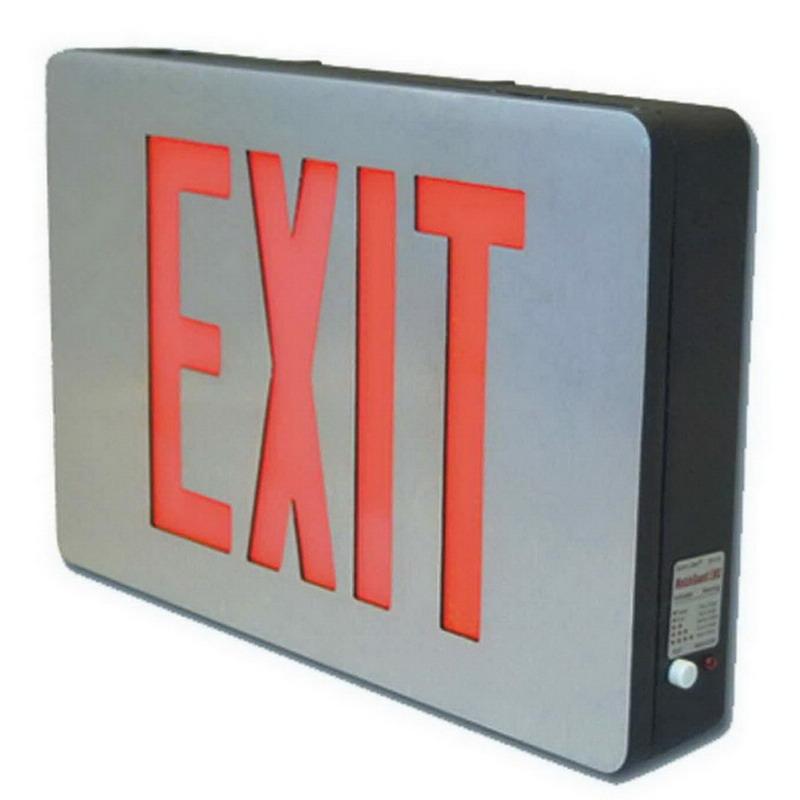 Cooper Lighting CX62 Sure-Lites CX Series LED Exit Sign; Double Face, Black Housing