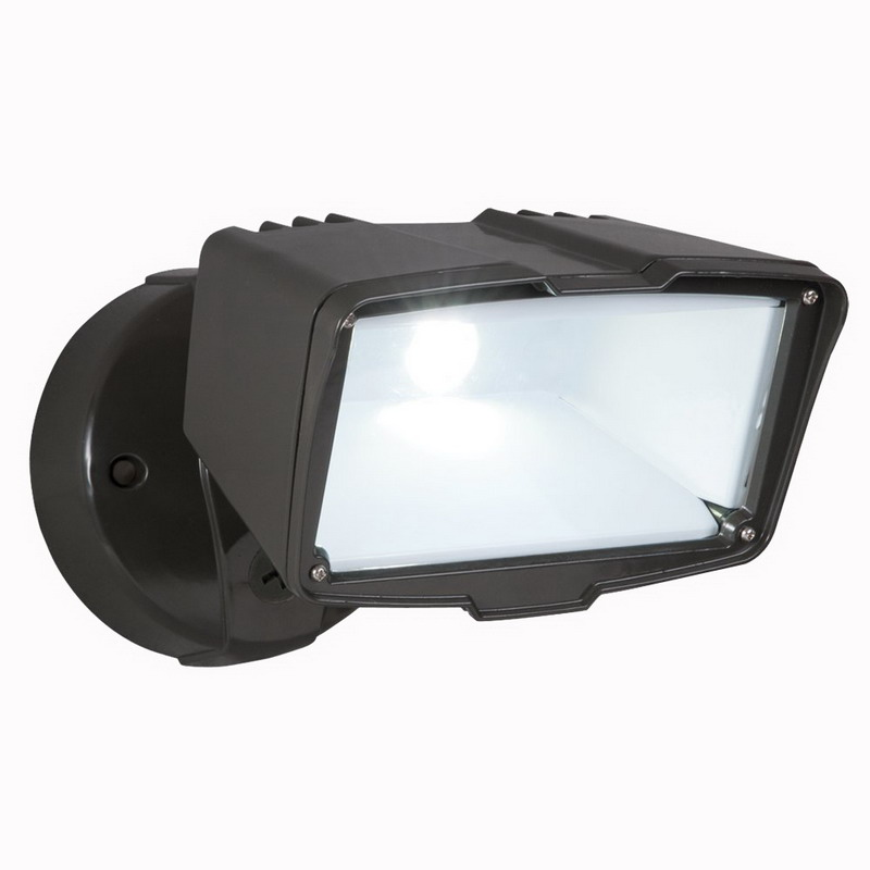 Wall Sconces Cooper Lighting : Cooper Lighting FSL2030L All-Pro Wall/Eave Mount LED Large Single Head Flood Light; 22 Watt ...