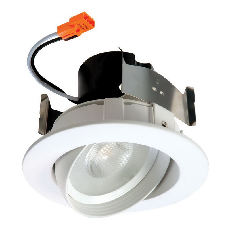 Cooper Lighting RA406927NFLWH Halo Recessed Mount RA4 Series 4 Inch LED Adju