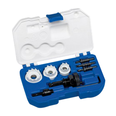 Lenox 30878500CHC 15-Piece Electrician's Hole Cutter Kit; 7/8 Inch, 1-1/8 Inch, 1-3/8 Inch, Carbide Teeth