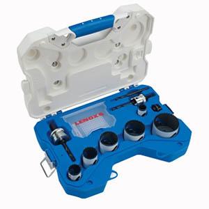 Lenox 30800600L Speed Slot® 10-Piece Bi-Metal Electrician's Hole Saw Kit; 7/8 Inch, 1-1/8 Inch, 1-3/8 Inch, 1-3/4 Inch, 2 Inch, 2-1/2 Inch