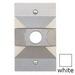 BWF/Teddico RC-3WV 1-Gang Weatherproof Raised Cover; 2-13/16 Inch x 1-1/16 Inch x 4-9/16 Inch, Rectangular, Box Mount, Die-Cast, Metal, Powder-Coated, White