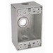 BWF/Teddico B-75V 1-Gang Weatherproof Outlet Box; 3/4 Inch Threaded, 3 Outlets, Surface Mount