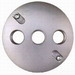BWF/Teddico CR-3V Weatherproof Cover; 4-1/2 Inch Dia, 3-1/2 Inch Hub, Round, Box Mount, Die-Cast, Metal, Powder-Coated, Gray