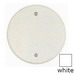 BWF/Teddico CC-4WV Flat with Beveled Edge Weatherproof Ceiling Outlet Cover; Round, Box Mount, Stamped Aluminum, Powder-Coated, White