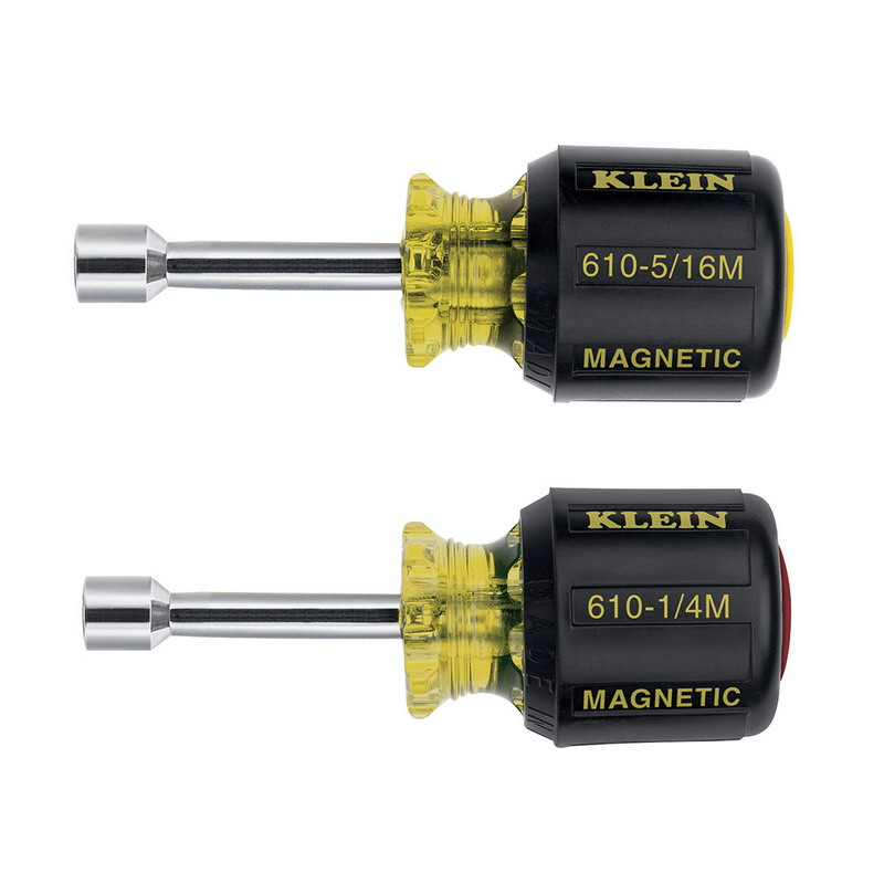 Klein Tools 610M Cushion Grip Magnetic Tip Nutdriver Set; 2-Piece