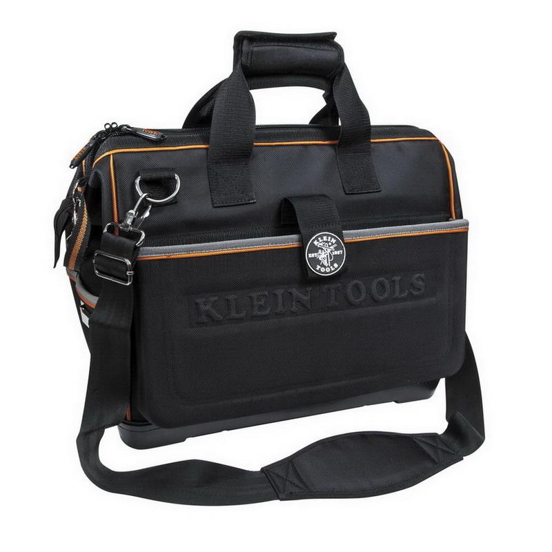 Klein Tools 55453HSB tradesman Pro™ Organizer Hacksaw Electricians Bag; Ballistic Nylon, 48 Pockets