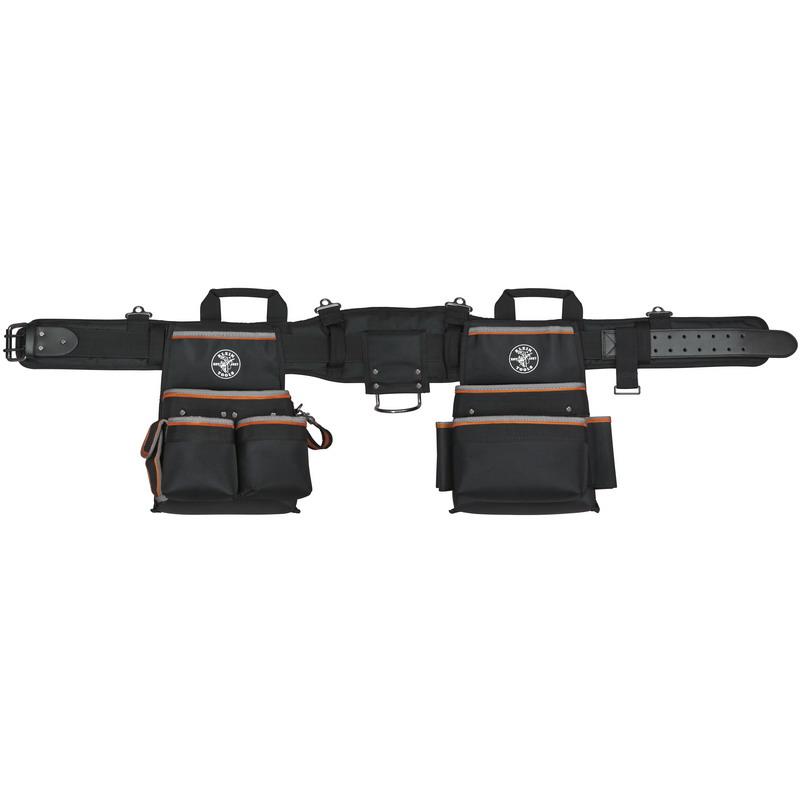 Klein Tools 55427 tradesman Pro™ Electricians Tool Belt; Ballistic Nylon, Medium, 26 Pockets
