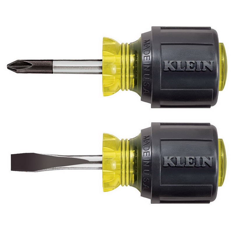 Klein Tools 85071 Cushion Grip Screwdriver Set; 2-Piece