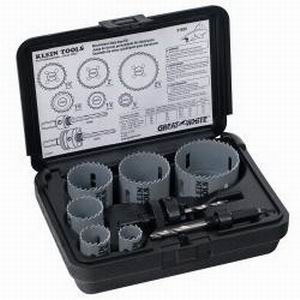 Klein Tools 31630 Great White™ 8-Piece Electrician's Hole Saw Kit