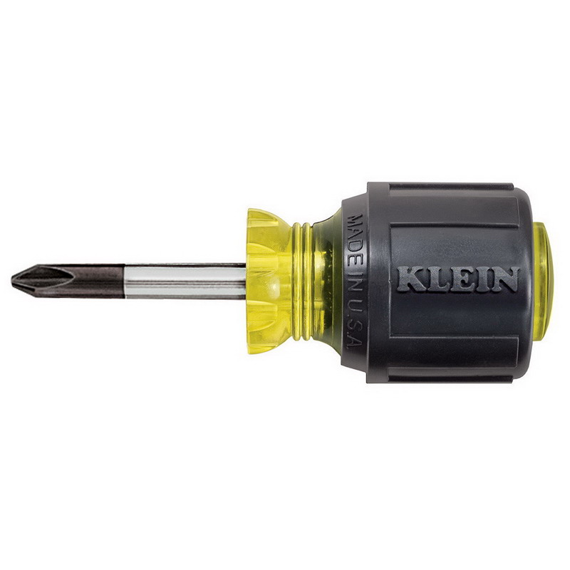 Klein Tools 603-1 Round Shank Screwdriver; #2 Tip, 3-7/16 Inch Overall Length
