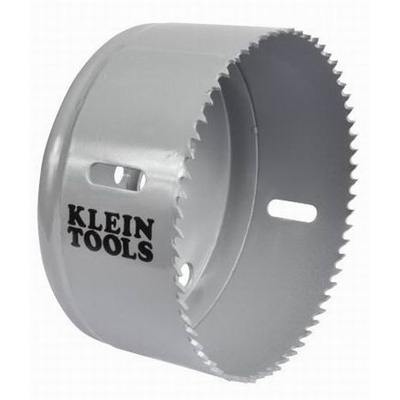 Klein Tools 31566 Great White™ Variable Pitch Hole Saw; 4-1/8 Inch, Cobalt Bi-Metal