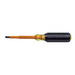 Klein Tools 602-4-INS Cushion Grip Insulated Screwdriver; 1/4 Inch Tip, 8-5/16 Inch Overall Length