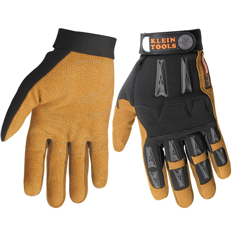 Klein Tools 40069 Journeyman™ K4 Leather Work Gloves; X-Large, Leather