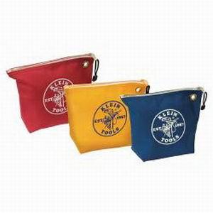 Klein Tools 5539CPAK Zipper Bag; No. 8 Canvas, 3 Pack