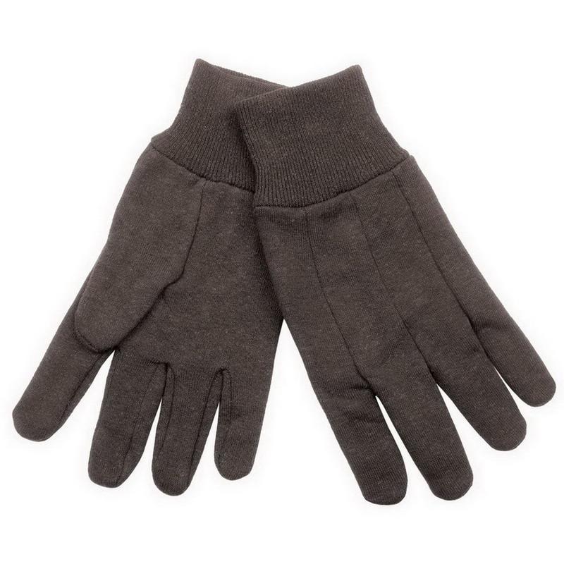 Klein Tools 40001 Heavyweight Lined Jersey Gloves; Universal, Dark Brown, Cotton