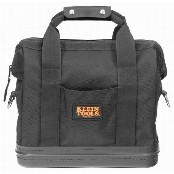 Klein Tools 5200-15 Tool Bag; Ballistic Nylon, Black, 8 Inside and 2 Outside Pockets