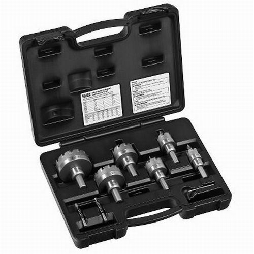 Klein Tools 31873 8-Piece Master Electrician's Hole Cutter Kit; Carbide Tip
