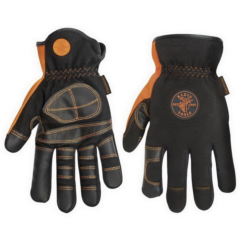 Klein Tools 40072 Electricians Work Gloves; Large