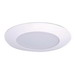 Cooper Lighting ERT721 All-Pro Economy 6 Inch Shower Light Trim With Frosted Glass Lens; White