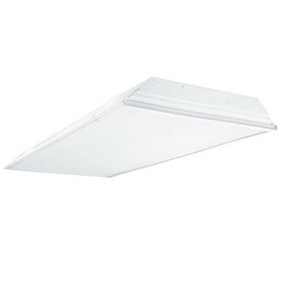 Cooper Lighting 2GR8-232A-UNV-EB81-U Metalux® 2-Light Recessed/Lay-In Grid Mount 2GR8 Series Fluorescent Troffer; 32 Watt, White, Lamp Not Included