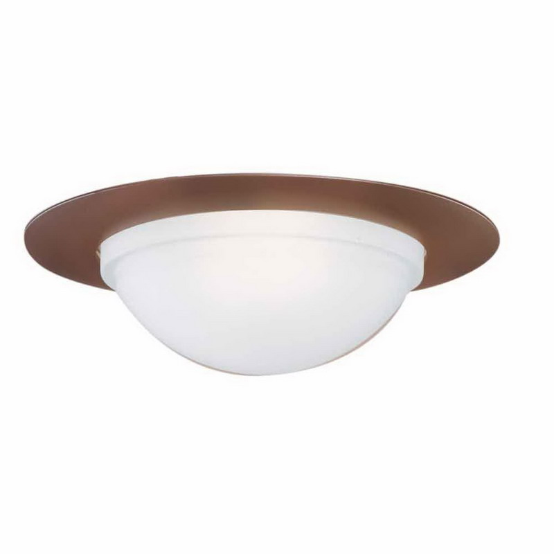 Cooper Lighting 172TBZS Air-Tite® Halo® H7 Series 6 Inch Shower Light Trim with Frosted Glass Dome