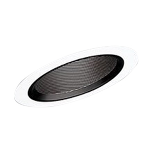 Cooper Lighting ERT4980WHT All-Pro® 6 Inch Slope Ceiling Baffle Trim With Black Baffle; White