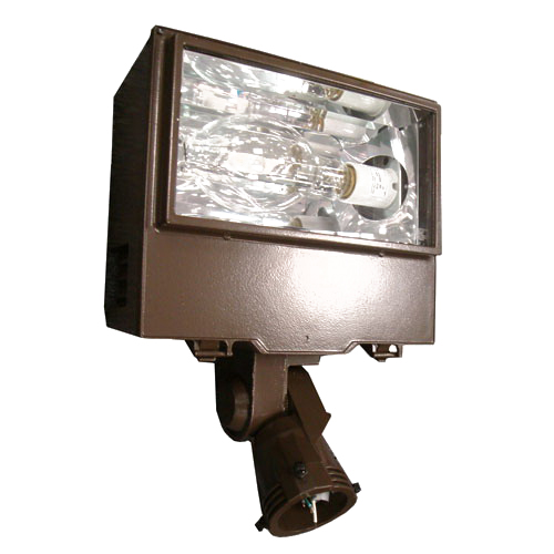 Cooper Lighting XP25 lumaRk® 1-Light Slipfitter Mount Warrior Metal Halide Flood Light; 250 Watt, Bronze