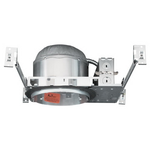 Elco R9IC 1-Light Line Voltage 6 Inch Shallow Housing; Stamped Steel Frame, Insulated Ceiling