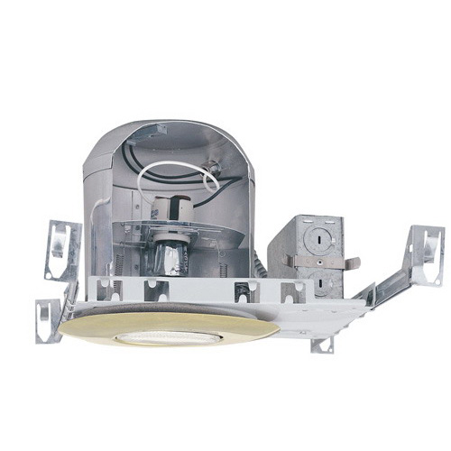 Elco EL7ICA Air-Tite® 1-Light Line Voltage 6 Inch Housing; Polycarbonate Trim Ring, Metal Trim Ring, Insulated Ceiling