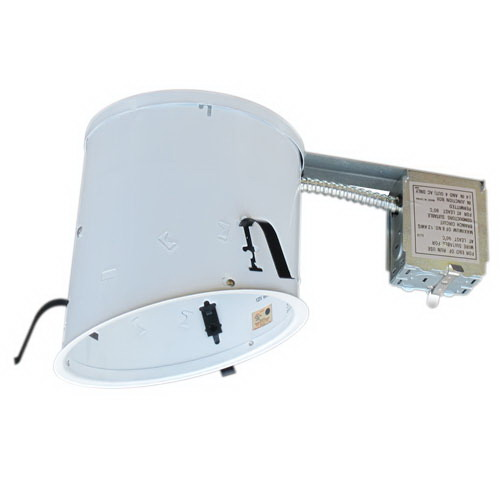 Elco EL918RICA Air-Tite® Line Voltage 6 Inch Remodel Sloped Housing; Insulated Ceiling
