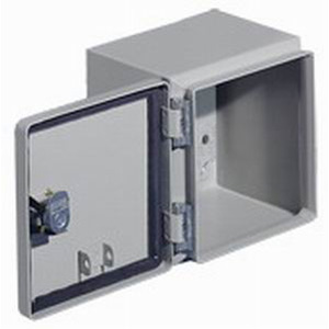 Rittal JB060604HC JB Series Junction Box; Carbon Steel, Gray, Hinge Cover