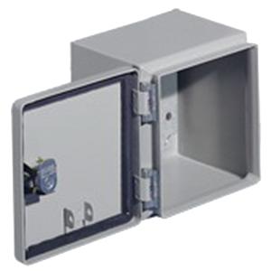 Rittal JB080604HC JB Series Junction Box; Carbon Steel, Light Gray (RAL 7035), Hinge Cover