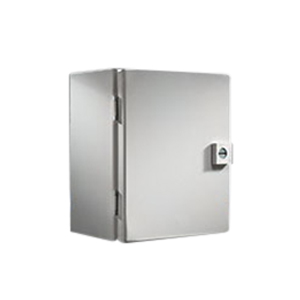 Rittal JB121005HC JB Series Junction Box; Carbon Steel, Light Gray, Hinge Cover