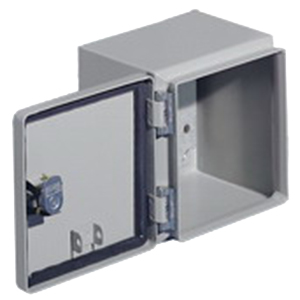 Rittal JB080606HC JB Series Junction Box; Carbon Steel, Gray, Hinge Cover